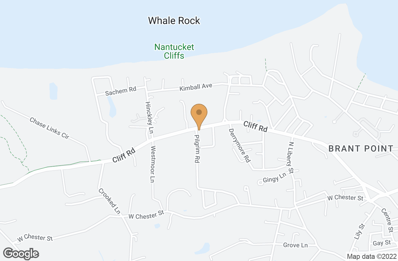 Google Map of 86 Cliff Road, Nantucket, MA, USA