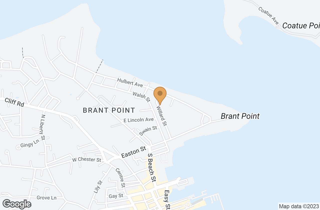 Google Map of 25 Willard Street, Nantucket, MA, USA