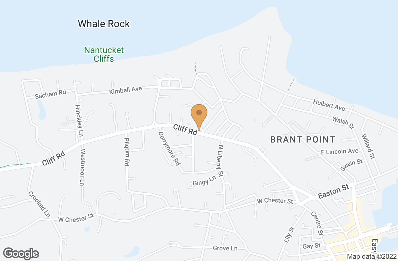 Google Map of 71 R Cliff Road, Nantucket, MA, USA