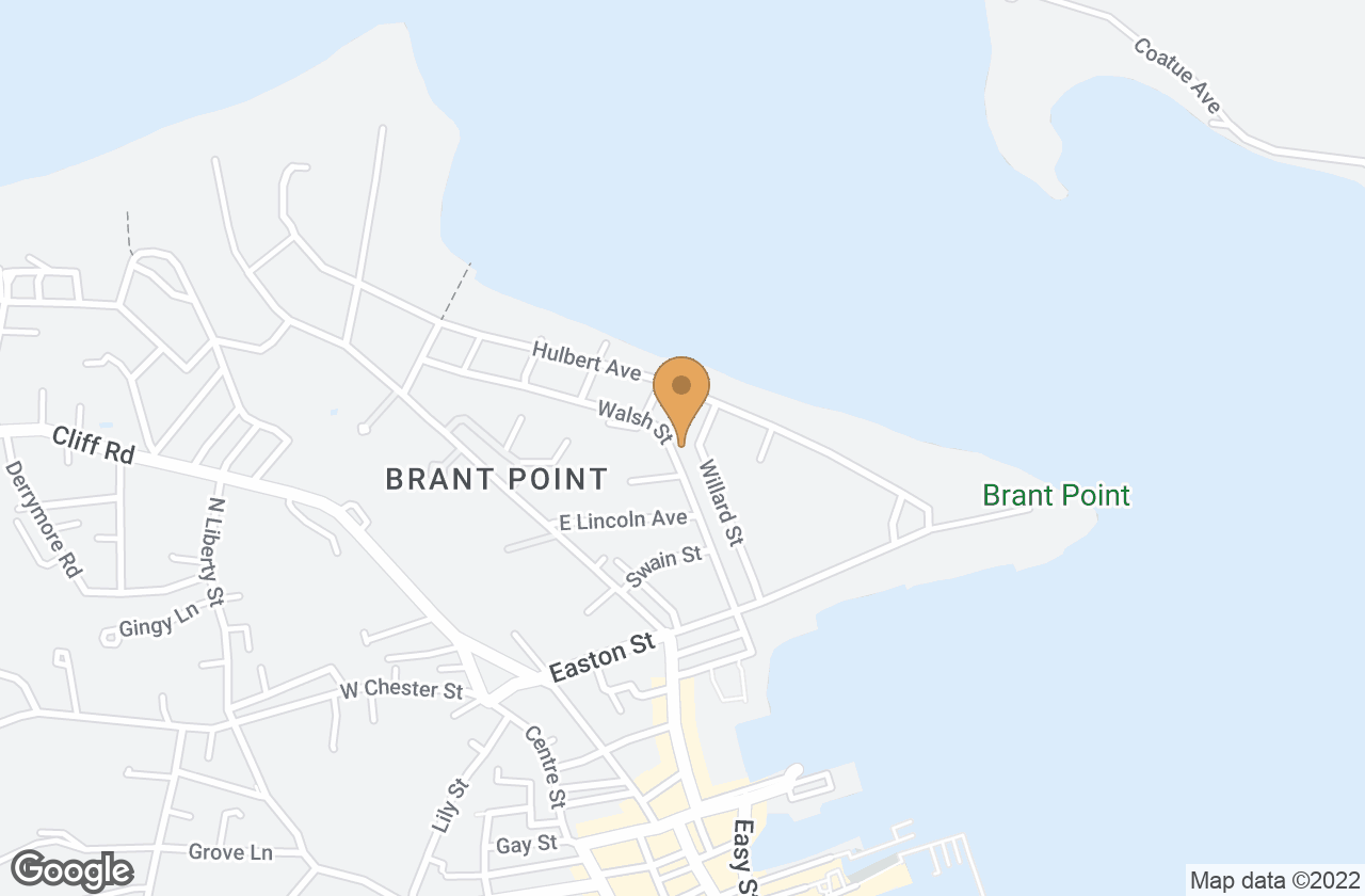 Google Map of 33 Walsh Street, Nantucket, MA, USA