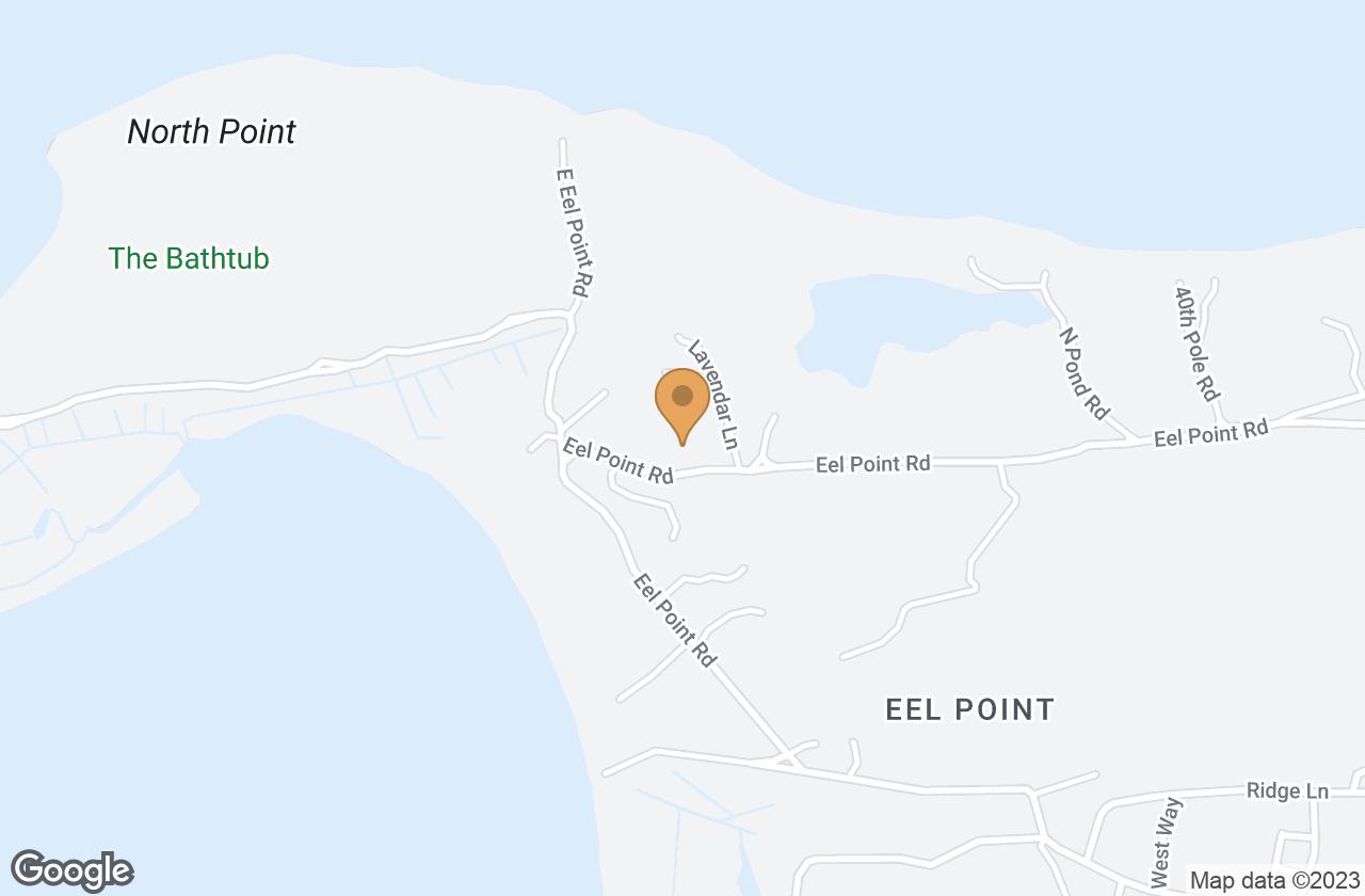 Google Map of 179 Eel Point Road, Nantucket, MA, USA
