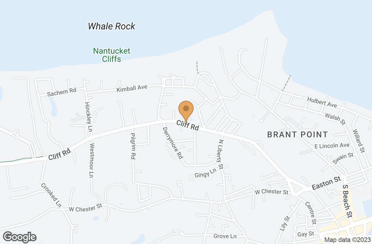Google Map of 67 Cliff Road, Nantucket, MA, USA