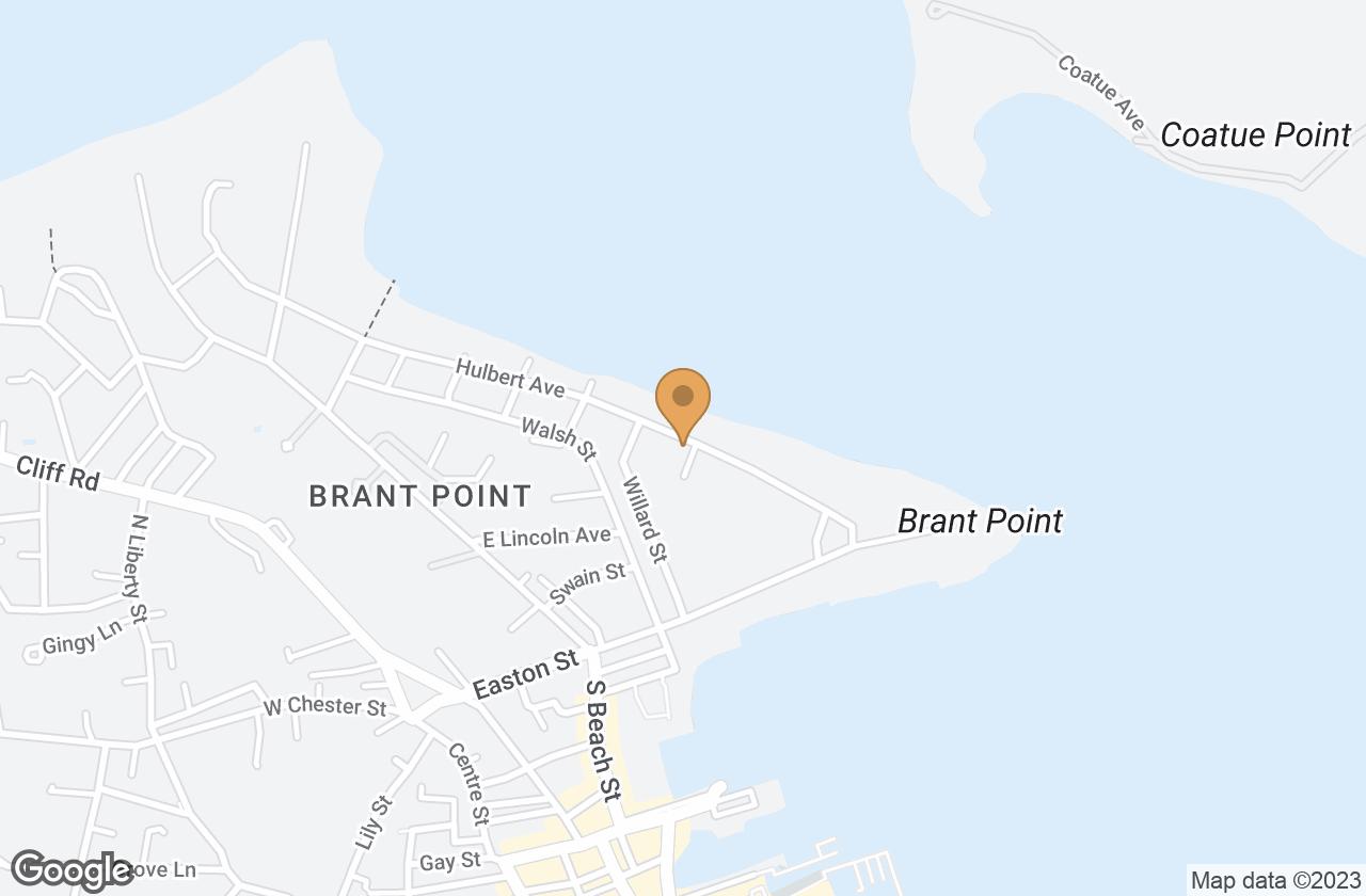 Google Map of 1 Sandy Drive, Nantucket, MA, USA