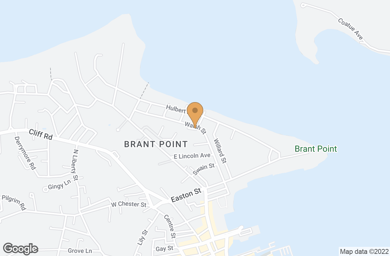 Google Map of 36  Walsh Street, Nantucket, MA, USA