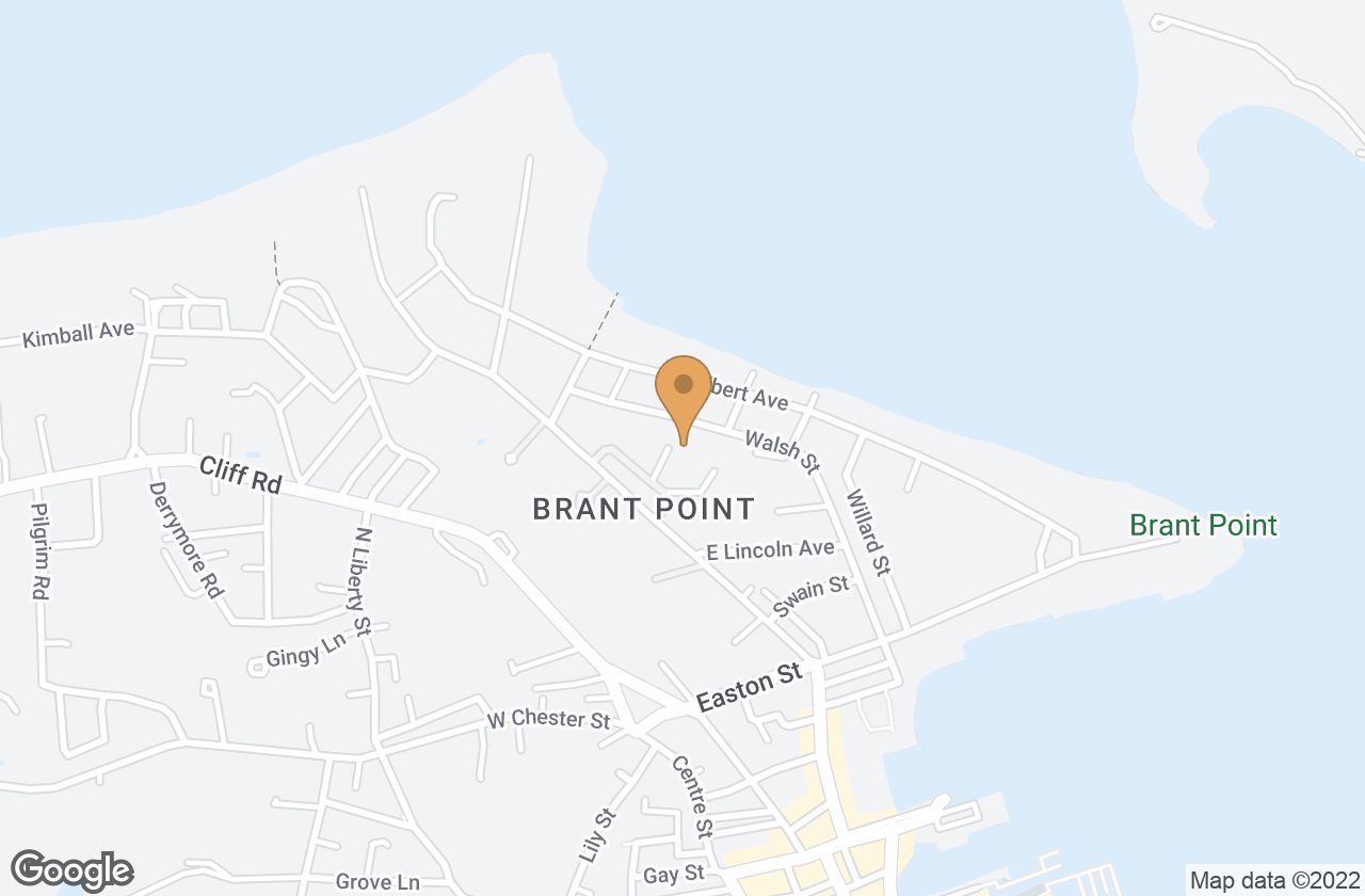 Google Map of 10 Brant Point Road, Nantucket, MA, USA