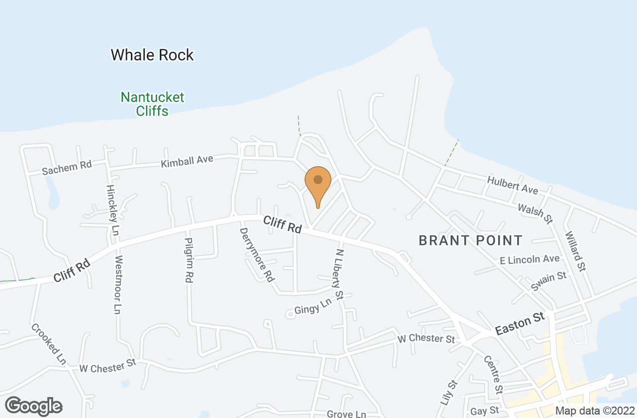 Google Map of 2-6 Highland Avenue, Nantucket, MA, USA