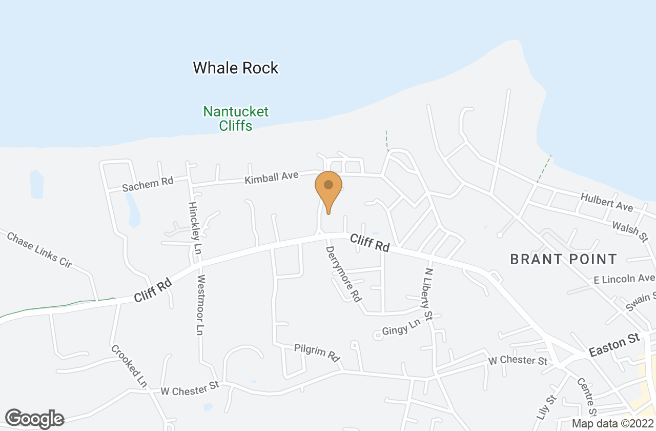 Google Map of 1 Folger Road, Nantucket, MA, USA