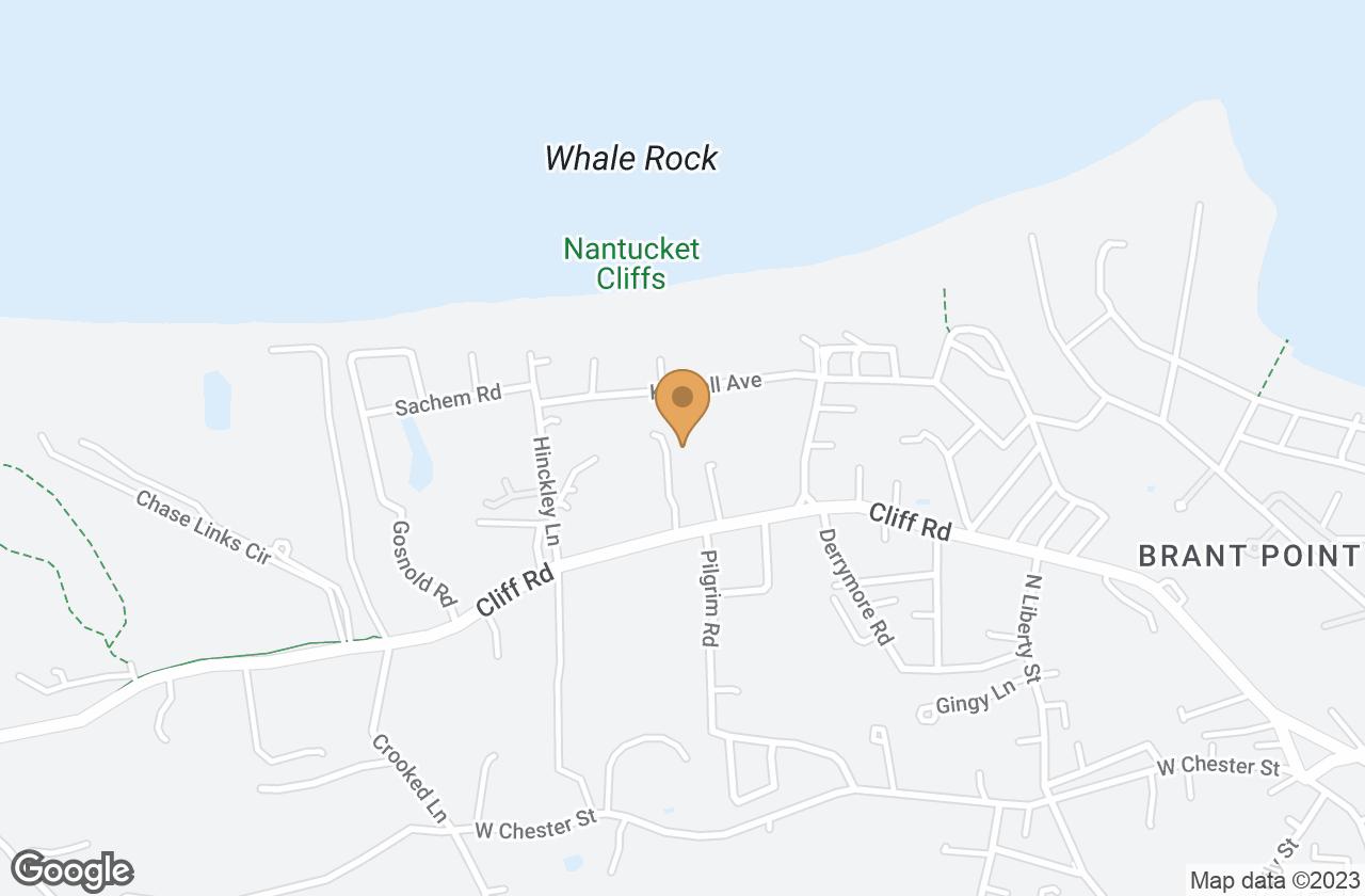 Google Map of 5 Cliff Lane, Nantucket, MA, USA