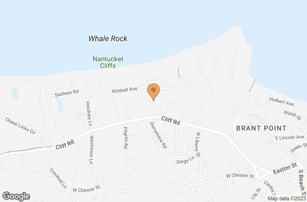 Google Map of 18 Sherburne Turnpike, Nantucket, MA, USA