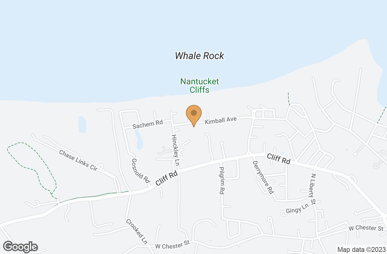 Google Map of 4 Heather Lane, Nantucket, MA, USA