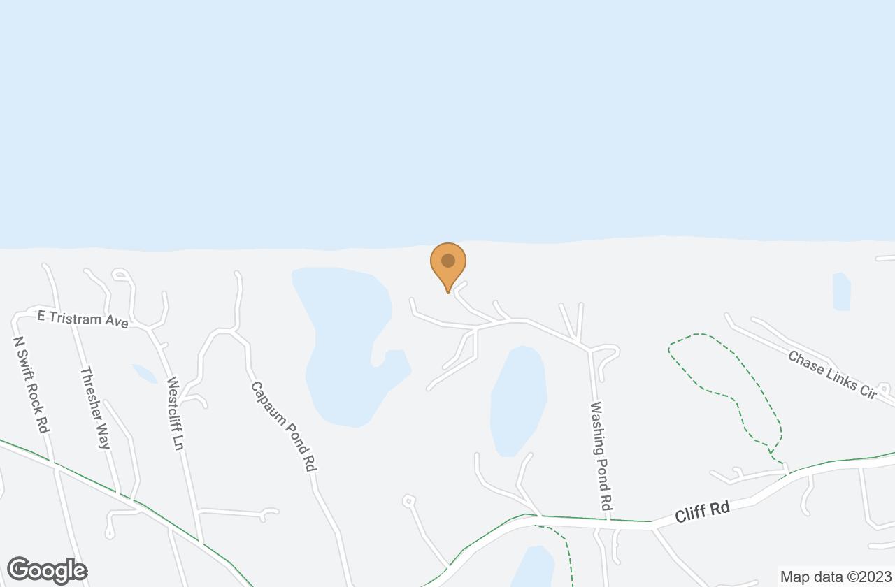 Google Map of 36 Washing Pond Road, Nantucket, MA, USA