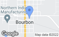 Map of Bourbon, IN