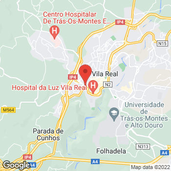 Map of Carglass® Vila Real at Avenida da Noruega 4C, Vila Real, Vila Real 5000-508
