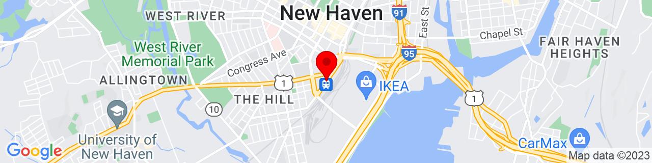 Google Map of 41.2980514, -72.9266711