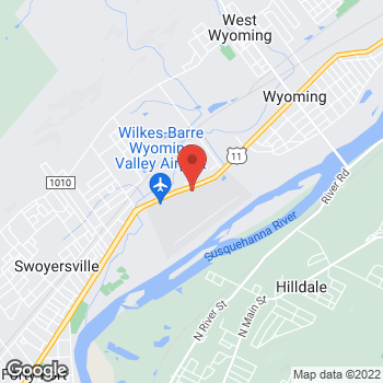 Map of Verizon Authorized Retailer, TCC at 1004 Wyoming Ave, Wyoming, PA 18644