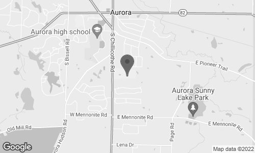 Map of 549 S Chillicothe Road in Aurora