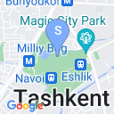 map for Park of Alisher Navoi, Tashkent, Uzbekistan