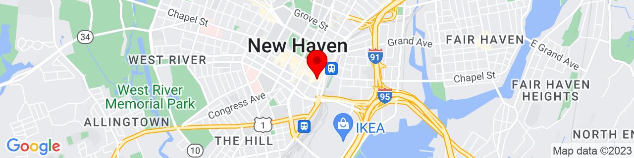 Google Map of 41.3038024, -72.92447349999999