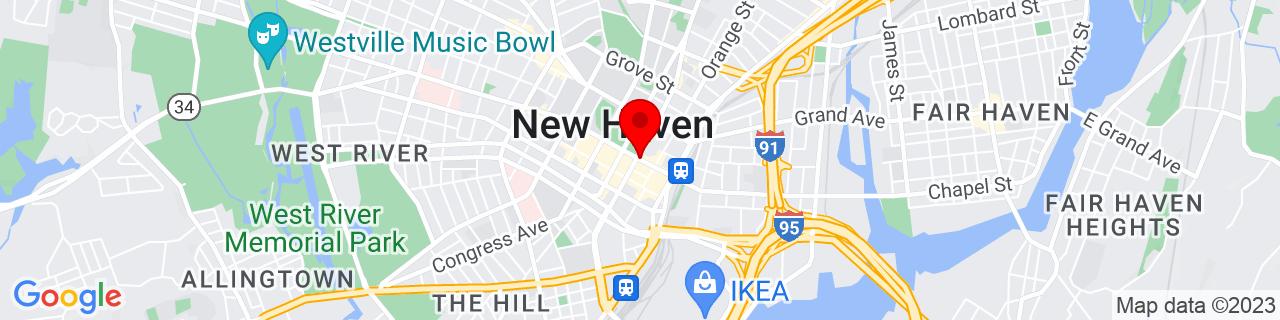 Google Map of 41.3059568, -72.92554009999999