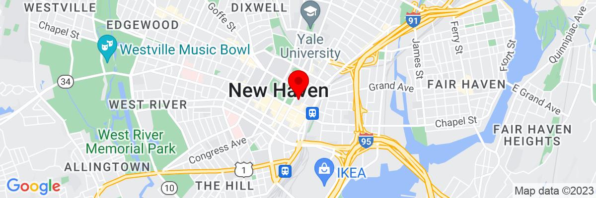 Google Map of 41.307036666667,-72.924500277778