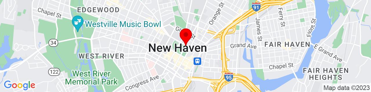 Google Map of 41.308687, -72.92546279999999