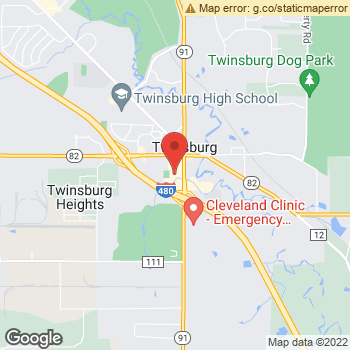 Map of Dr. Michelle Ford at 8934 Darrow Rd, Twinsburg, OH 44087