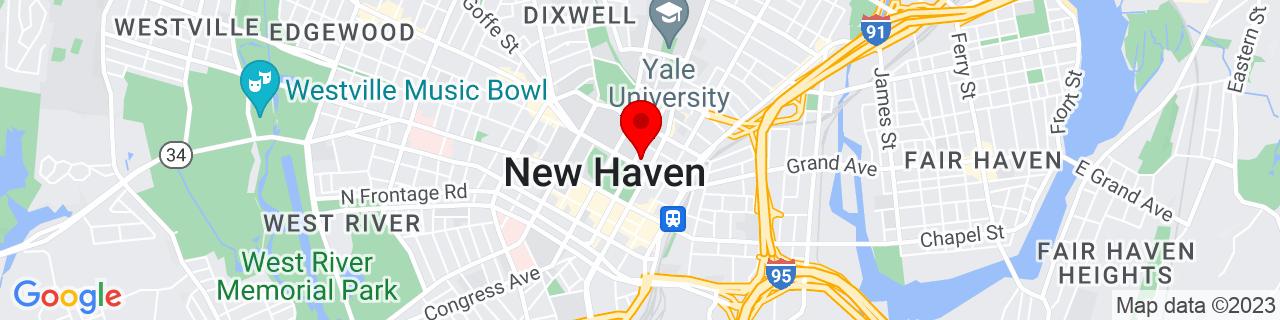 Google Map of 41.3090363, -72.92477269999999
