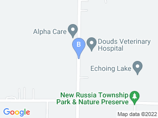 Map of Douds Veterinary Hospital Dog Boarding options in Oberlin | Boarding