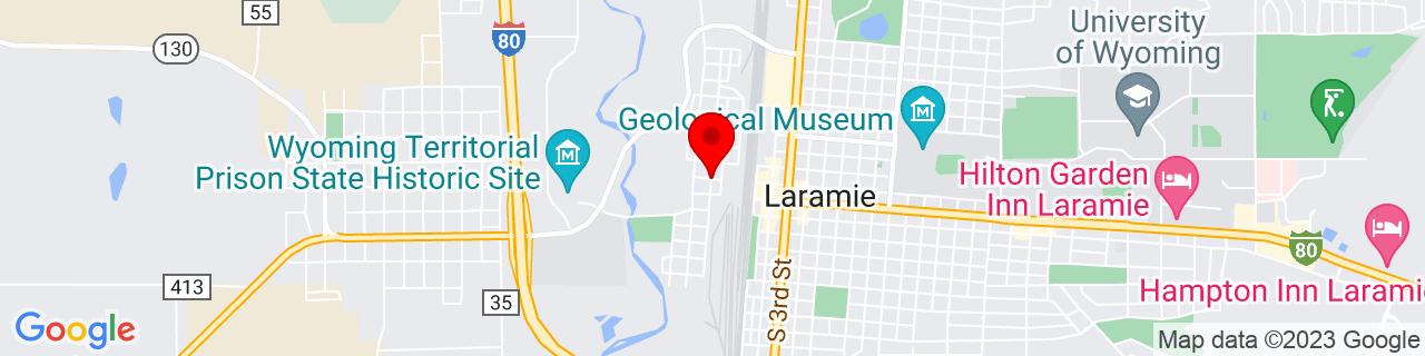 Google Map of 41.3123192, -105.5994578