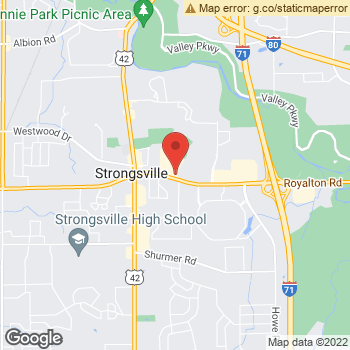 Map of Dr. Ghanem and Associates at 18054 Royalton Rd, Strongsville, OH 44136
