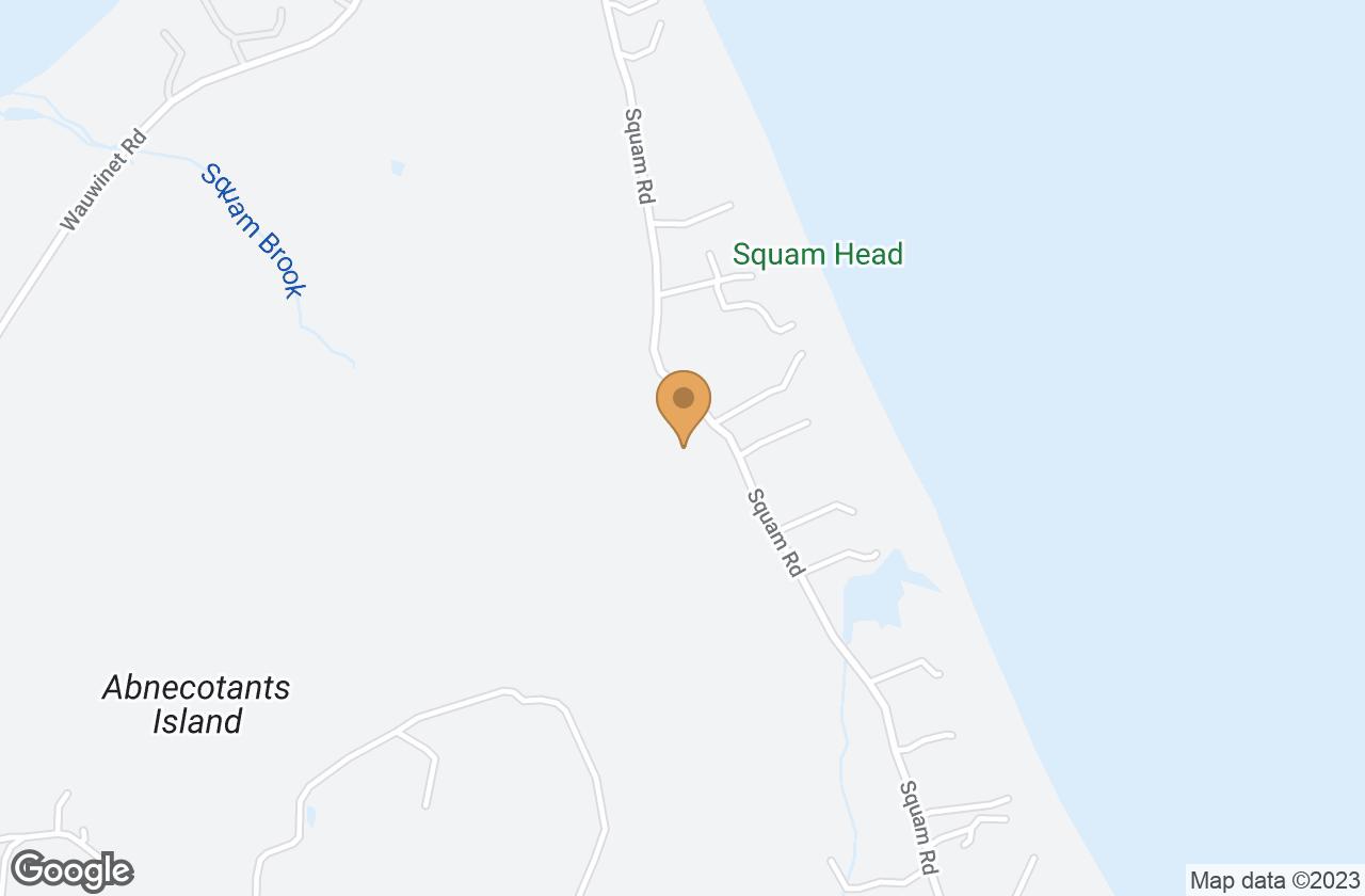 Google Map of 60 Squam Road, Nantucket, MA, USA