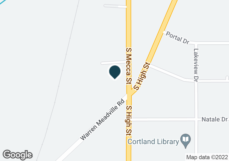 Google Map of600 S MECCA ST