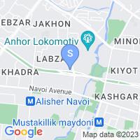 Расположение гостиницы Рамада на карте