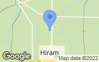Map of Hiram, OH