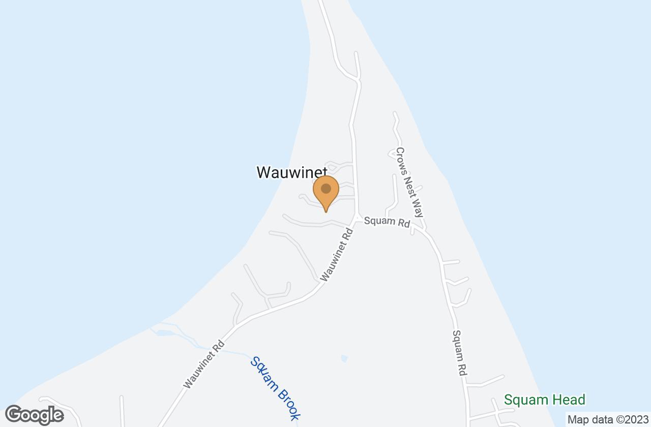 Google Map of 100R Wauwinet Road, Nantucket, MA, USA