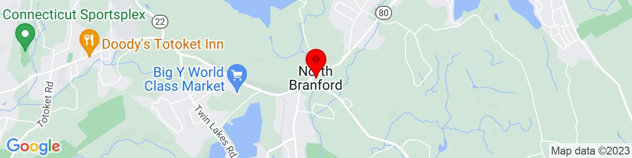 Google Map of 41.3275, -72.76722222222222