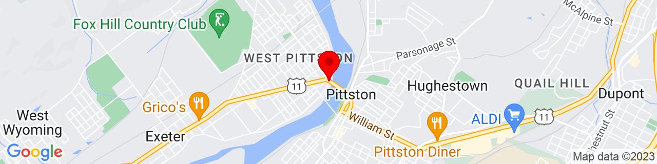 Google Map of 41.3275, -75.79305555555555