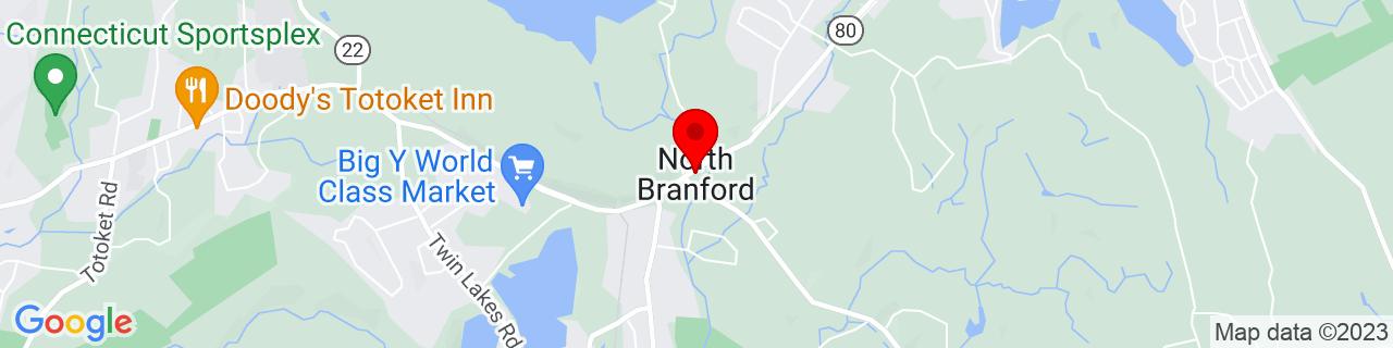 Google Map of 41.3275971, -72.7673198