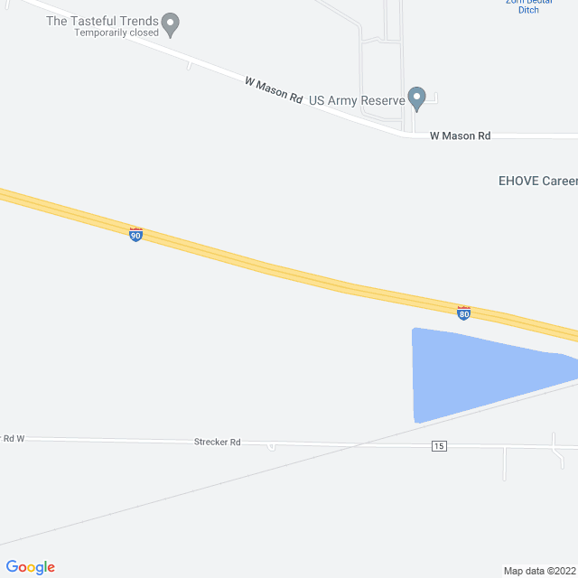 Map of Ohio (I 76/I 80/I 90) Turnpike