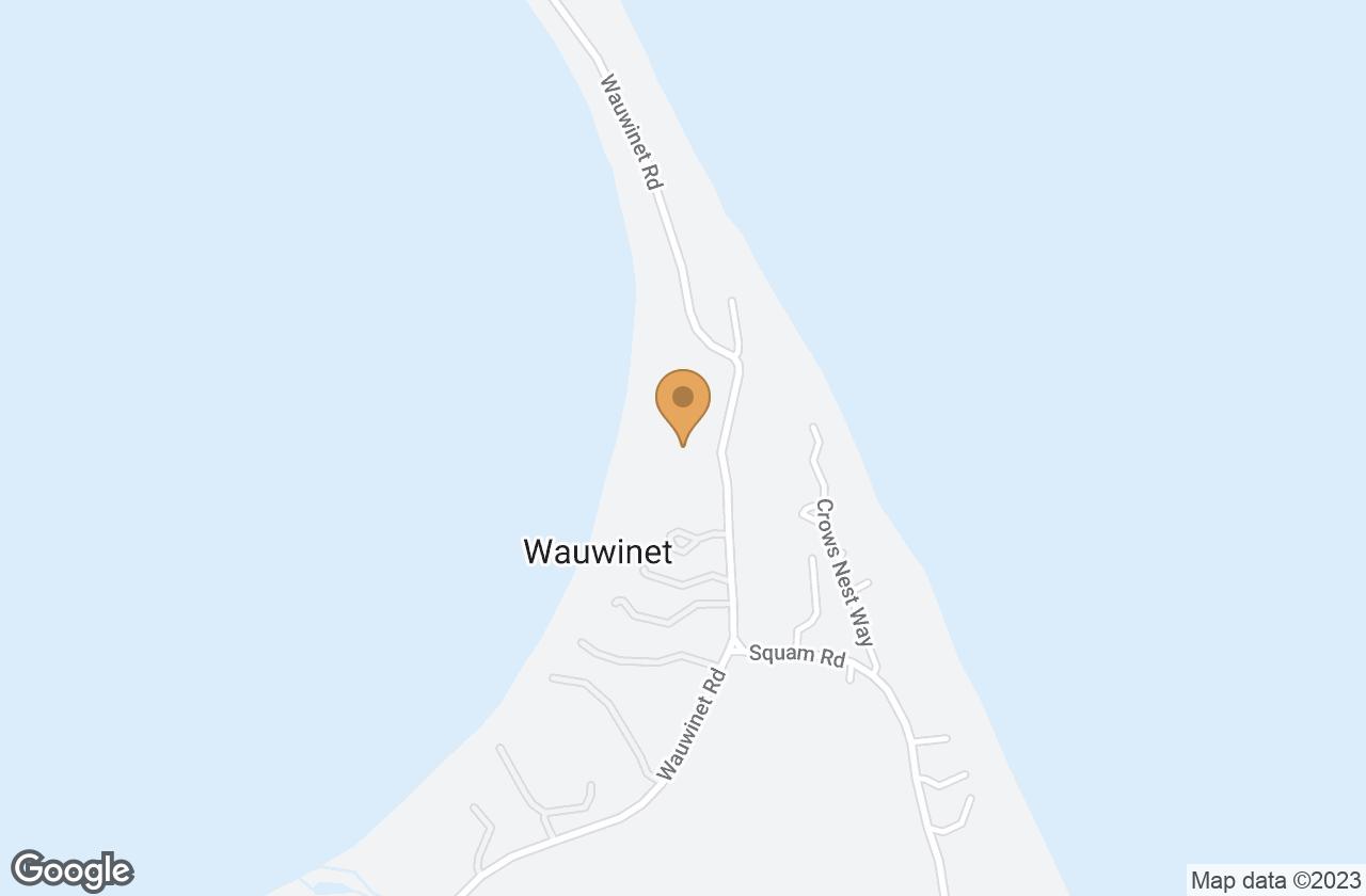 Google Map of 112 Wauwinet Rd
