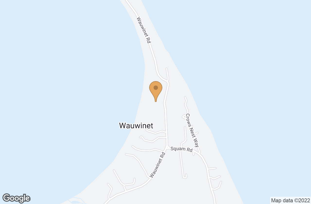 Google Map of 112 Wauwinet Rd
