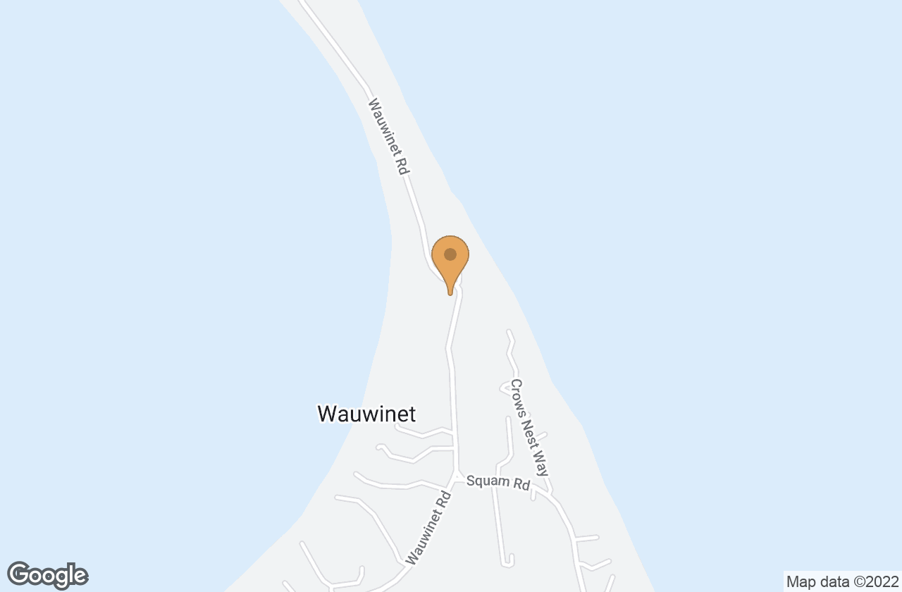 Google Map of 122 Wauwinet Road, Nantucket, MA, USA