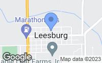 Map of Leesburg, IN