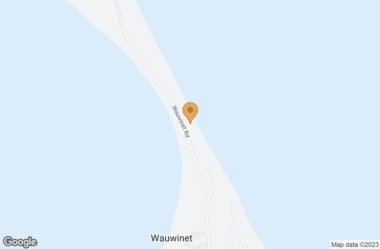 Google Map of 153 Wauwinet Rd
