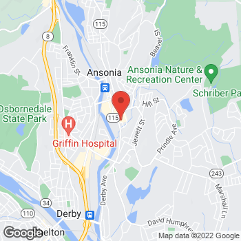 Map of Rite Aid at 404 Main Street, Ansonia, CT 06401