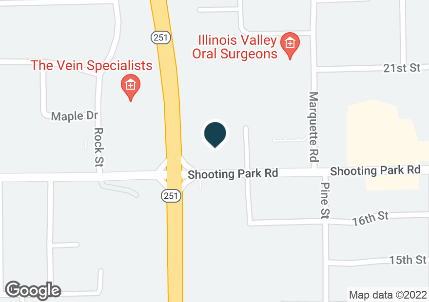 Google Map of1033 SHOOTING PARK RD