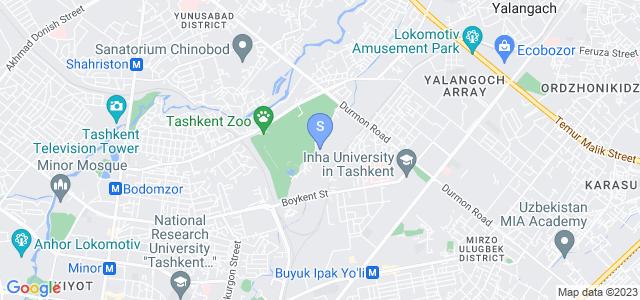 Расположение гостиницы Ботаник Бутик на карте
