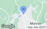 Map of Monroe, CT