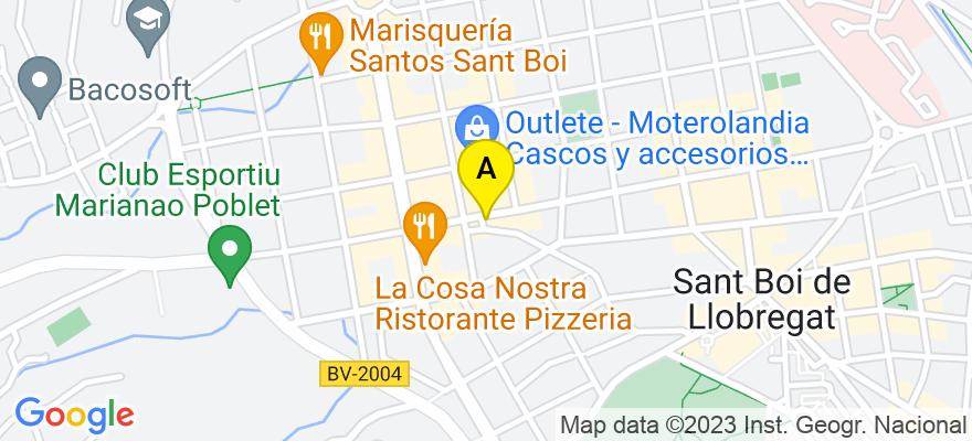 situacion en el mapa de . Direccion: Eusebio Güell  85  3º 2ª Esc. B, 08830 Sant Boi de Llobregat. Barcelona