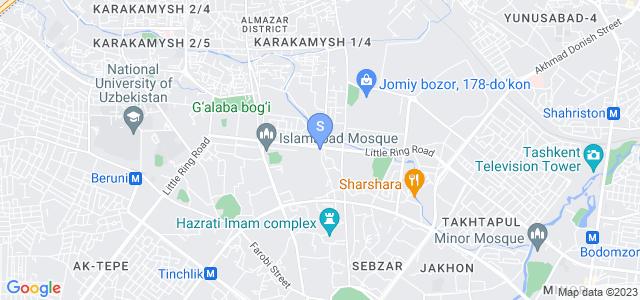 Расположение гостиницы Гранд Нур на карте
